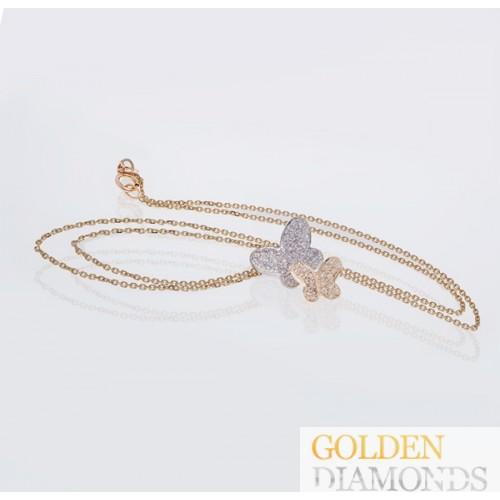 Золотой кулон с блиллиантами