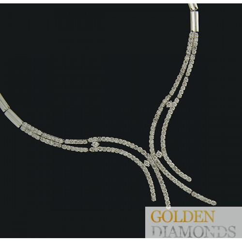 Золотое колье с бриллиантами