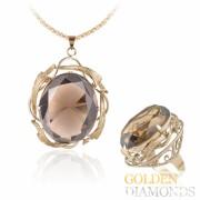 кольцо и кулон из золота с бриллиантами