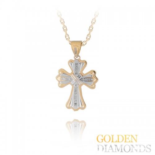 Золотой крестик с блиллиантами
