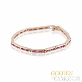 Золотой браслет с рубинами и бриллиантами